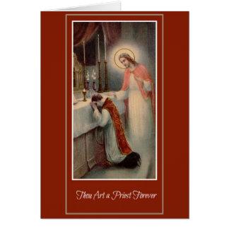 Carte Classification Jésus de prêtre d'anniversaire de