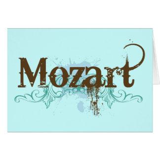 Carte classique fraîche de Mozart