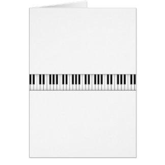 Carte Clés de clavier/piano :