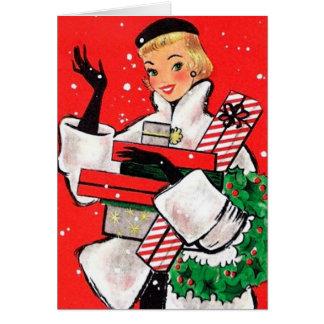 Carte Client de Noël d'années '50
