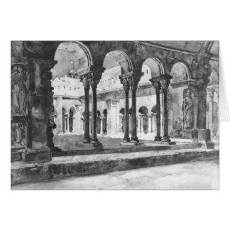 Carte Cloître Arles France 1888 de San Trophine