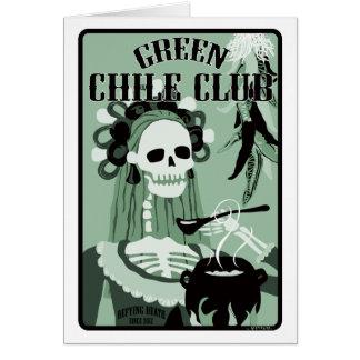 Carte club vert de piment