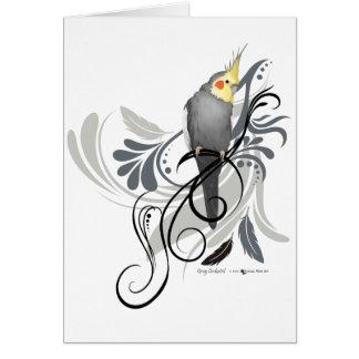 Carte Cockatiel gris