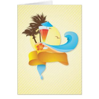 Carte Cocktail et vagues tropicaux