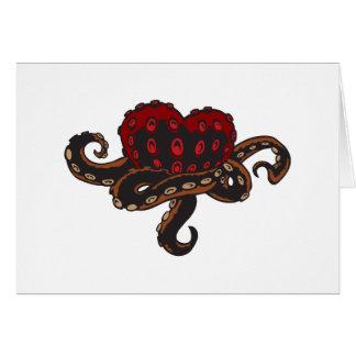 Carte Coeur avec des tentacules