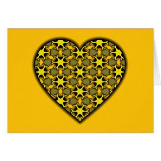 Carte Coeur cosmique jaune d'éclat