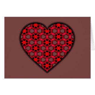 Carte Coeur cosmique rouge d'éclat