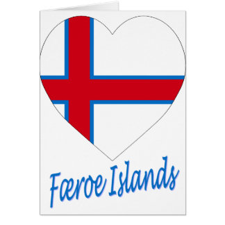 Carte Coeur de drapeau des Iles Féroé