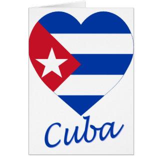 Carte Coeur de drapeau du Cuba