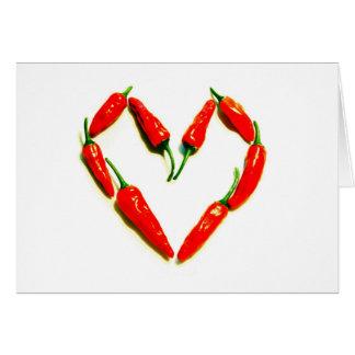 Carte coeur de piments