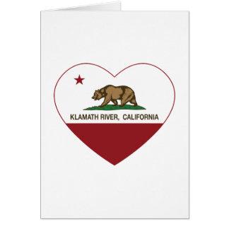 Carte coeur de rivière de Klamath de drapeau de la