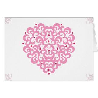 Carte Coeur de Valentines