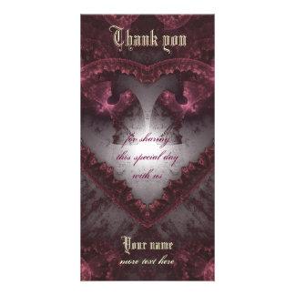 Carte Coeur gothique pourpre 001