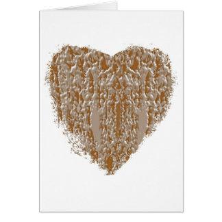 Carte Coeur PUR - l'argent de l'or n a gravé la
