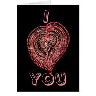 Carte Coeur rose
