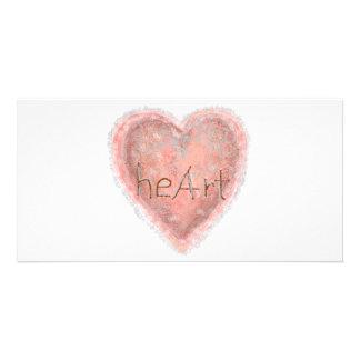 Carte Coeur rose de Saint-Valentin
