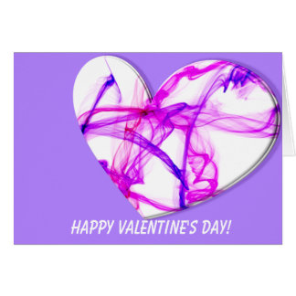 Carte Coeur rose d'encre