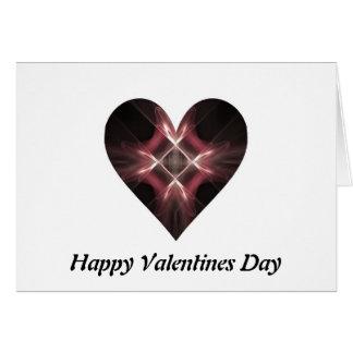 Carte Coeur rouge et noir d'art de fractale