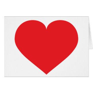 Carte Coeur rouge - masquez à l'intérieur