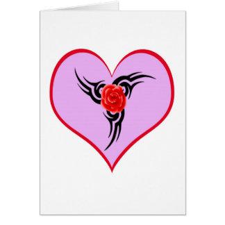 Carte Coeur tatoué