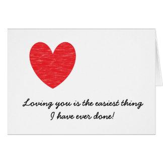 Carte Coeur vous aimant