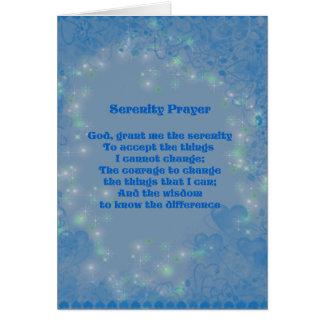 Carte Coeurs bleus de prière de sérénité inspirés