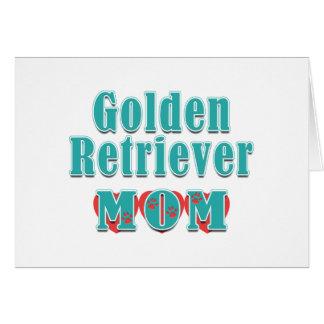 Carte Coeurs de maman de golden retriever