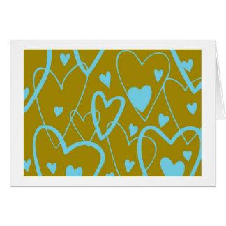 Carte Coeurs sur l'olive