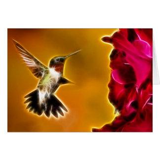 Carte Colibri Rubis-throated masculin