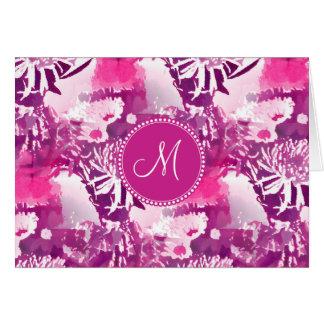Carte Collage de bouquet de fleur de roses indien de