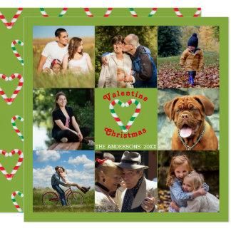 Carte Collage de Noël de Valentine de sucre de canne de