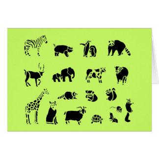 Carte Collage mammifère animal