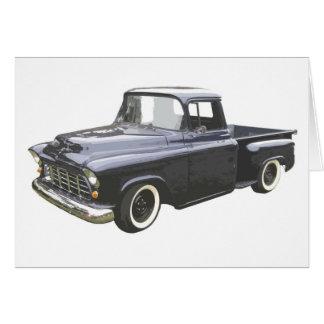 Carte Collecte 1956 de Chevrolet de noir