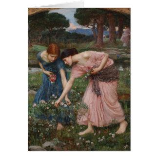 Carte Collecte des boutons de rose par John William