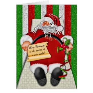 Carte Collection de sommeil Père Noël - Noël/salutation