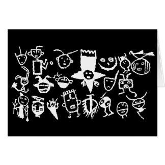 Carte Collection, masques et têtes de pétroglyphe