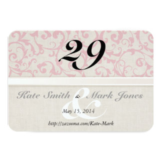 Carte Collection rose de mariage de SmartElegance