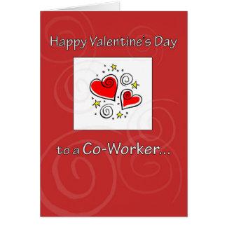 Carte Collègue 3577 avec le coeur, Valentine