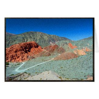 Carte Colline de sept couleurs dans Purmamarca,