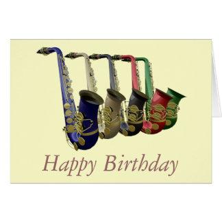 Carte colorée de joyeux anniversaire de cinq