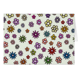 Carte COM Flores de padrão