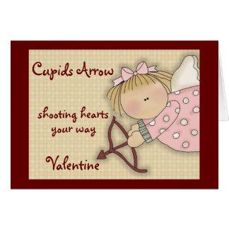 Carte comique de Saint-Valentin de flèche de