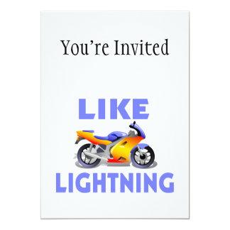 Carte Comme le vélo de rue de Lightining