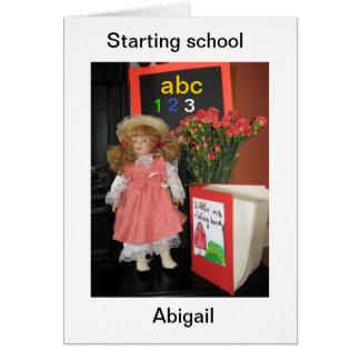 Carte commencer l'école Abigaïl
