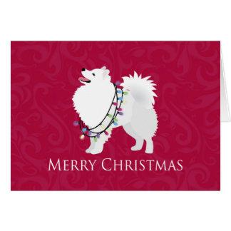 Carte Conception américaine de Joyeux Noël de chien