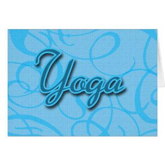 Carte Conception bleue de Flourish de yoga