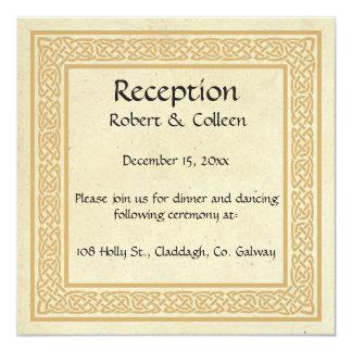 Carte Conception celtique avec la réception de mariage
