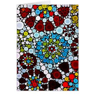 Carte Conception colorée de bulles de cercles de