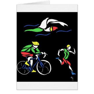Carte Conception colorée de triathlon
