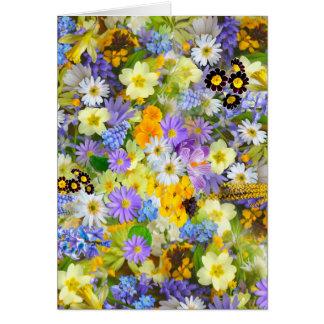 Carte Conception colorée luxuriante de bouquet de jolies